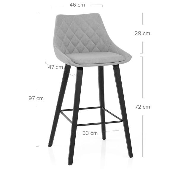 Chaise de Bar Tissu - Regent Gris
