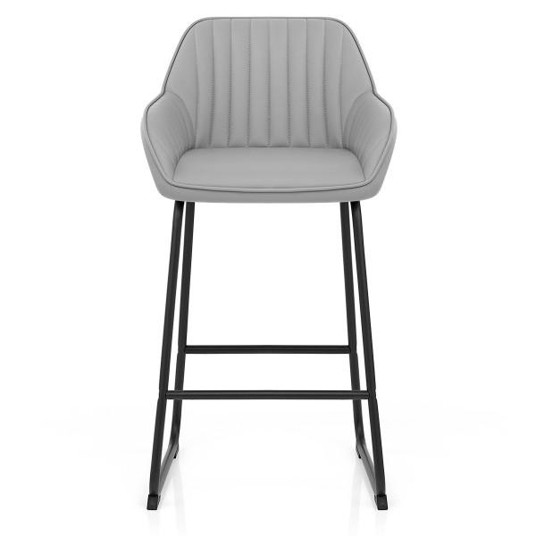 Chaise de Bar Faux Cuir - Kanto Gris