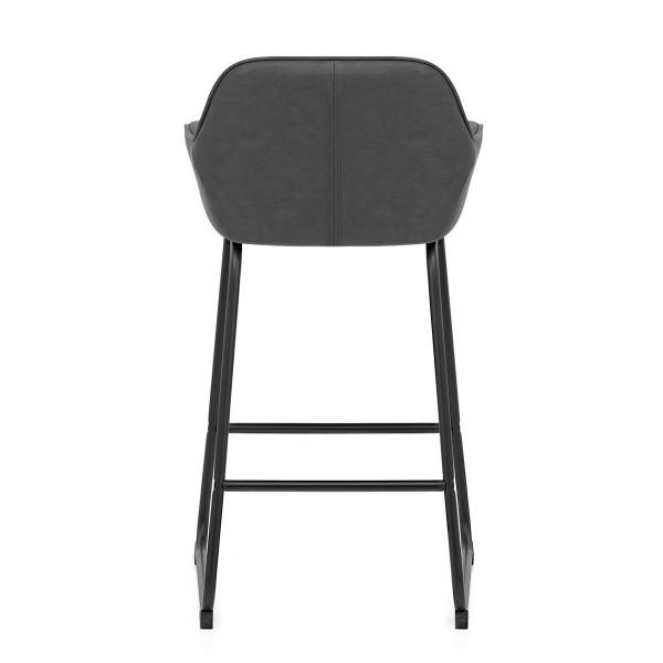 Chaise de Bar Faux Cuir - Kanto Gris Foncé