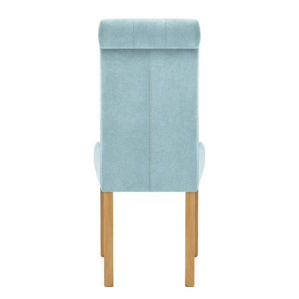 Chaise Bois Tissu - Portland Bleu