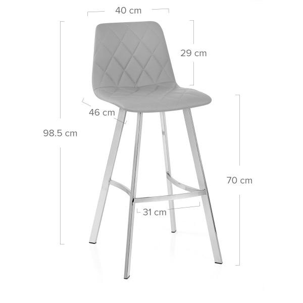 Chaise de Bar Faux Cuir - Alto Gris