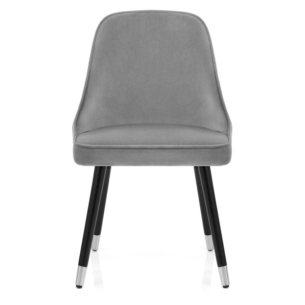 Chaise Bois Velours - Glam Gris