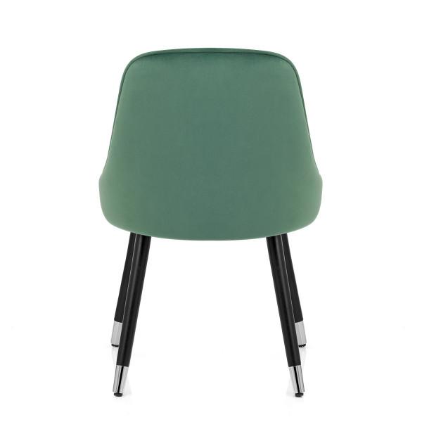 Chaise Bois Velours - Glam Vert