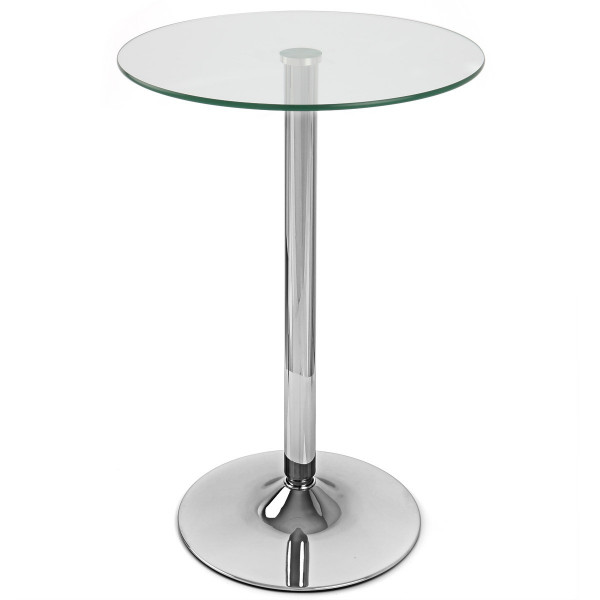 Table de Bar Chrome - Vetro Poseur