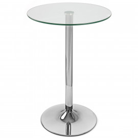 Table de Bar Chrome - Vetro Poseur
