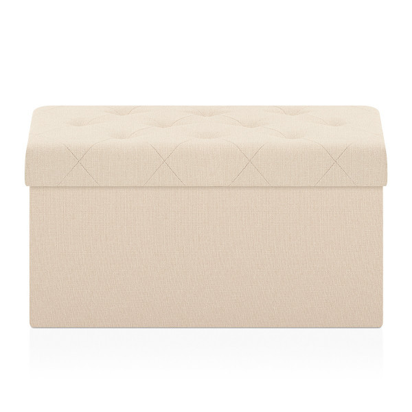 Tabouret de Rangement Tissu - Pandora Crème