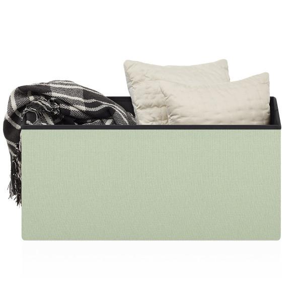 Tabouret de Rangement Tissu - Tiffany Vert