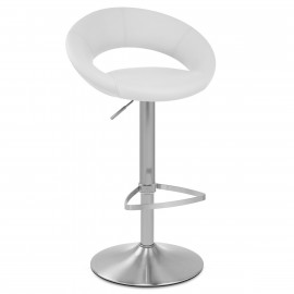 Chaise de Bar Faux Cuir Chrome Brossé - Crescent Matelassé