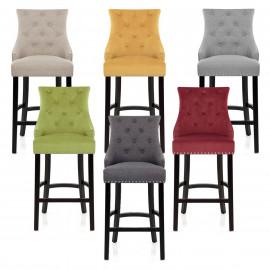 Chaise de Bar Bois Tissu - Ascot