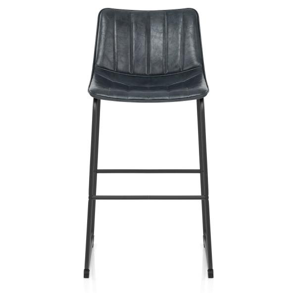 Chaise de Bar Faux Cuir - Tucker Gris