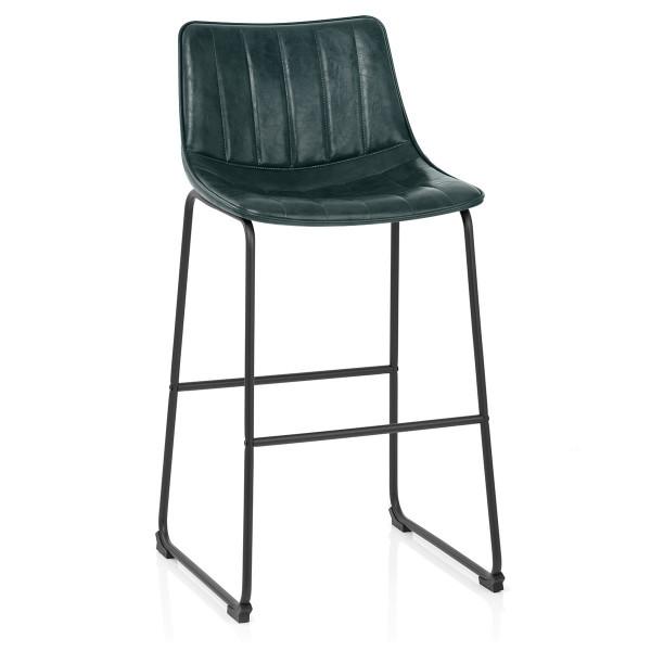 Chaise de Bar Faux Cuir - Tucker Vert