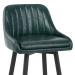 Chaise de Bar Bois Faux Cuir Antique - Hamilton Vert