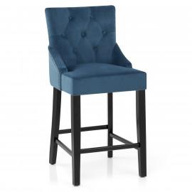 Chaise de Bar Velours Bois - Loxley