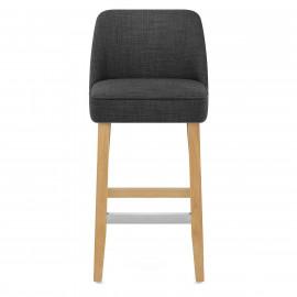 Chaise de Bar Bois Tissu - Cameo