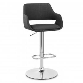 Chaise de bar Chrome Tissu - Nuevo