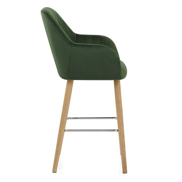 Chaise de bar Bois Velours - Rio Vert