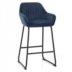 Chaise de Bar Velours - Kanto