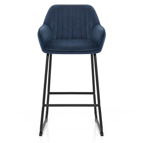 Chaise de Bar Velours - Kanto Bleu