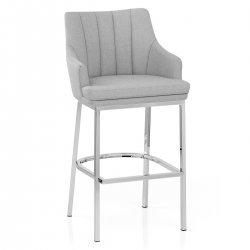 Chaise de Bar Chrome Tissu - Orion