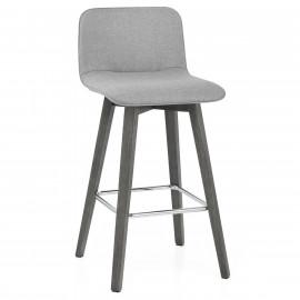 Chaise de Bar Bois Tissu - Tide