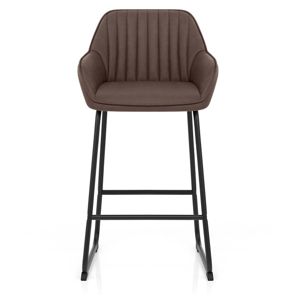 Chaise de Bar Faux Cuir - Kanto Marron