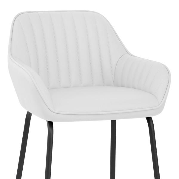Chaise de Bar Faux Cuir - Kanto Blanc