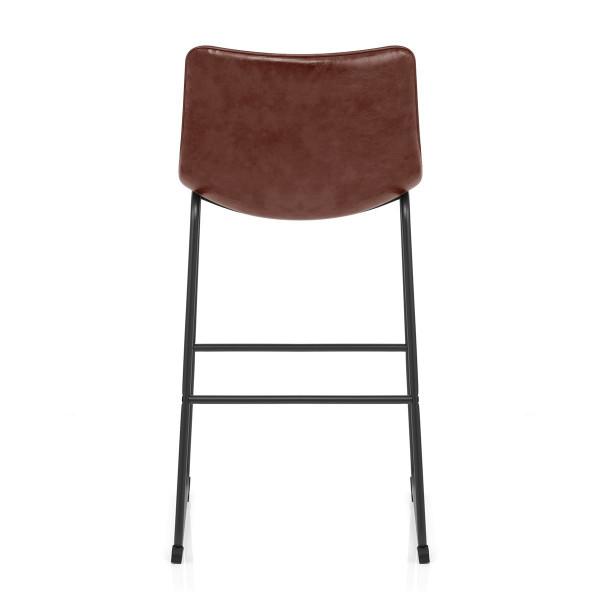 Chaise de Bar Faux Cuir - Tucker Marron