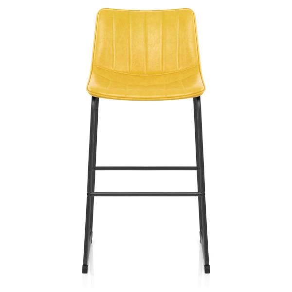 Chaise de Bar Faux Cuir - Tucker Jaune