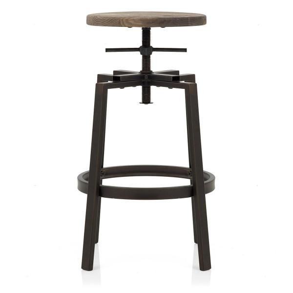 Tabouret de Bar Bois Foncé - Industrial Turner